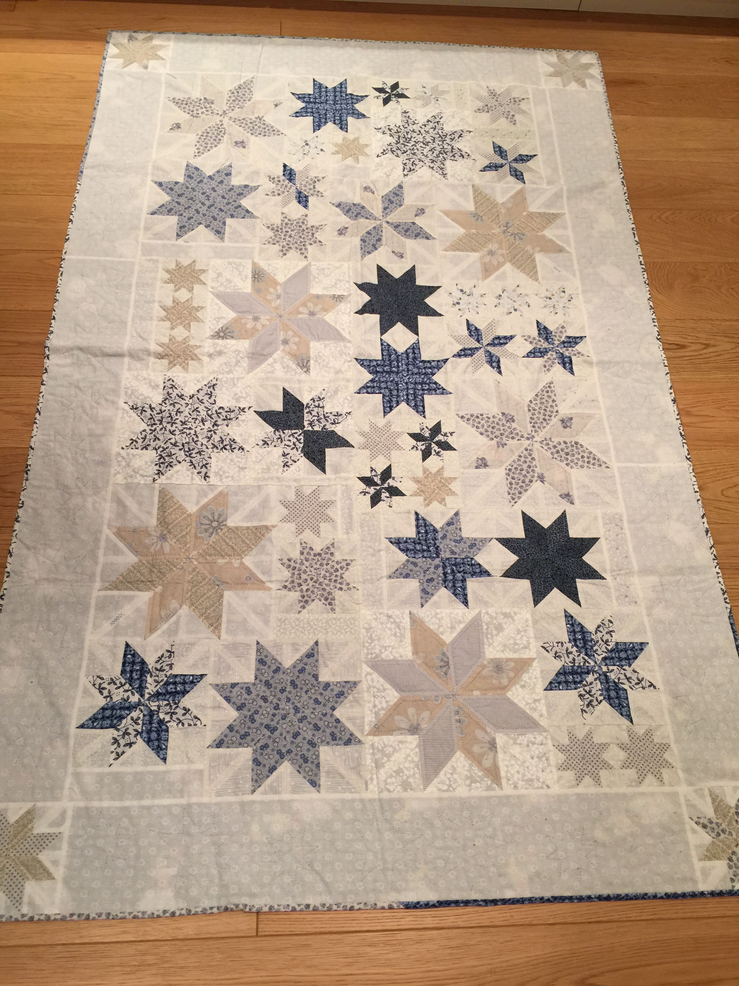 A Lemoyne Star Variation Made In Sweden Using Our Rapid Fire Lemoyne Star Tool Star Quilt Blocks Moon Quilt Quilt Patterns