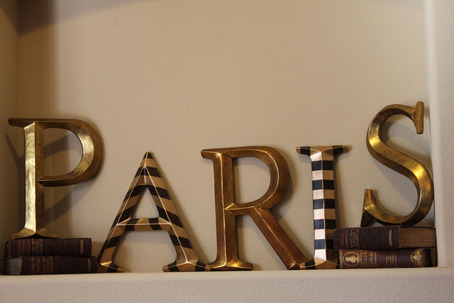 Paris France French Pottery Barn Style Shabby Chic Decor Wall Letter Set 74 95 Via Etsy