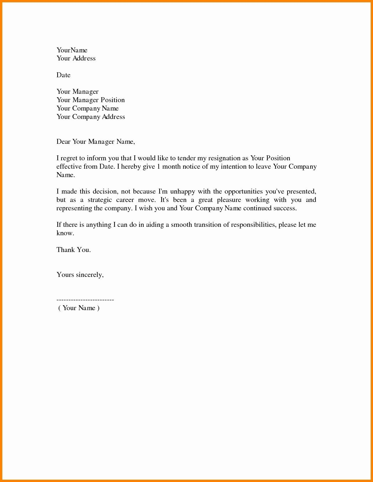 Formal Resignation Letter Example from i.pinimg.com