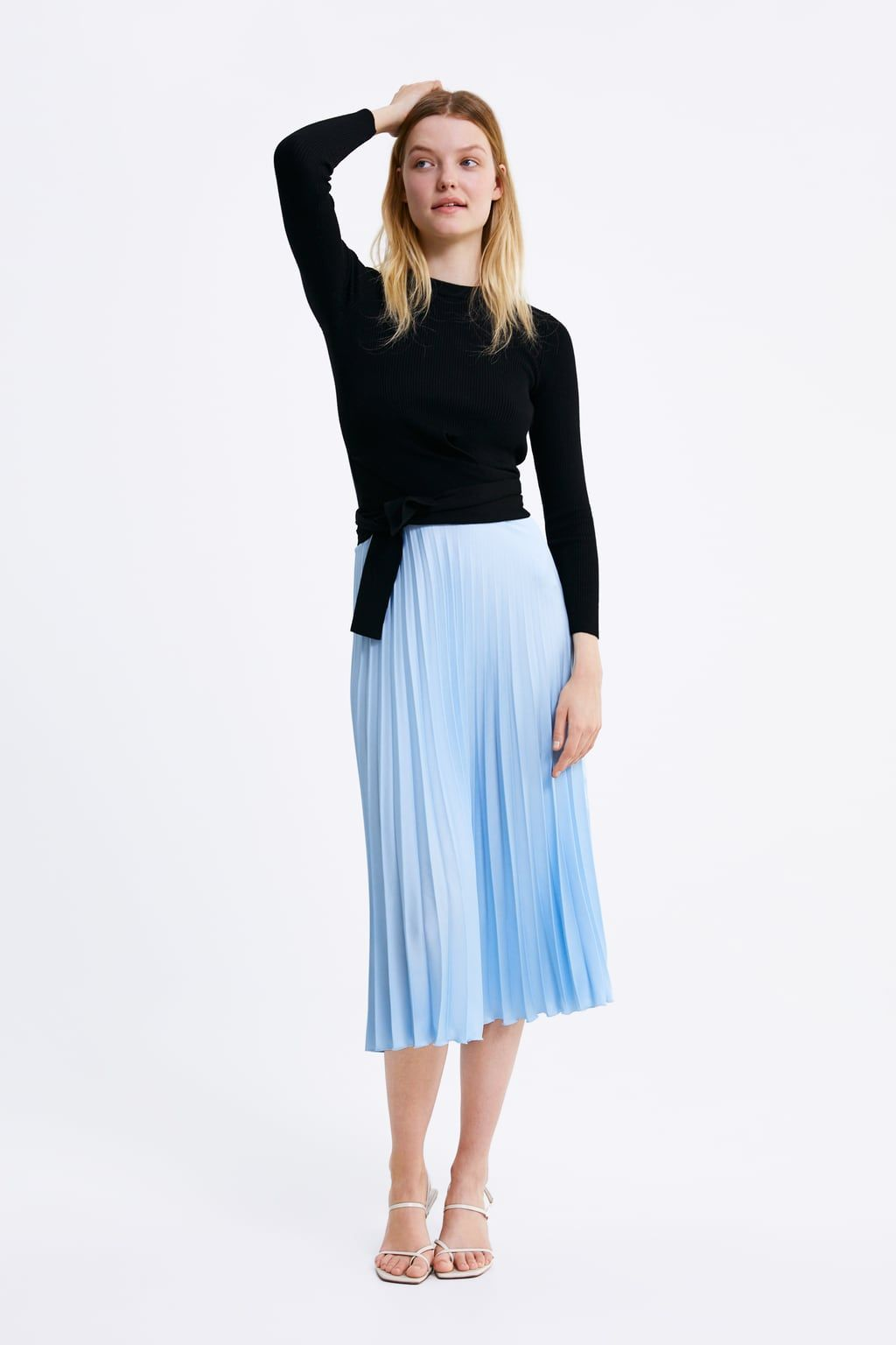 431e34d7d2 Pleated skirt in 2019 | I Want It Now, Daddy! | Skirts, Zara pleated ...