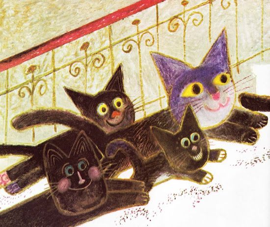 The Surprise Kitten  Josef Palecek ~ Ed Sand ~ Parents' Magazine Press, 1974