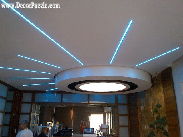 20 Modern false ceiling designs made of gypsum board | Places to ...