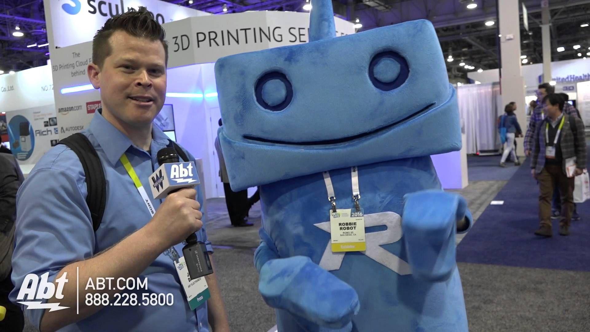 Robo 3D Robbie the Robot - CES 2016