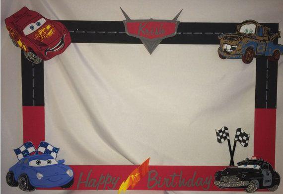 photo frame party prop disney cars to take by titaspartycreations 4000