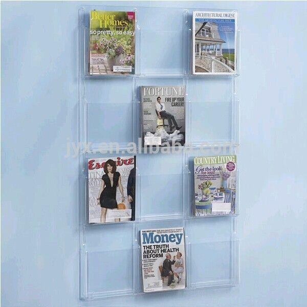 Hot Selling Wall Mounted Acrylic Magazine Rack Plexiglass Magazine Rack Magazine Rack Magazine Wall Magazine Display