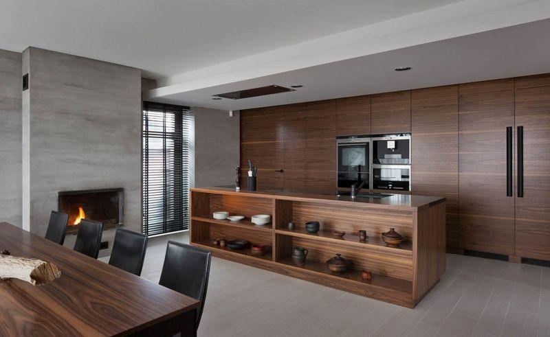 Wohnungsgestaltung vom ukrainischen NOTT Design Studio   Kücheninsel ...