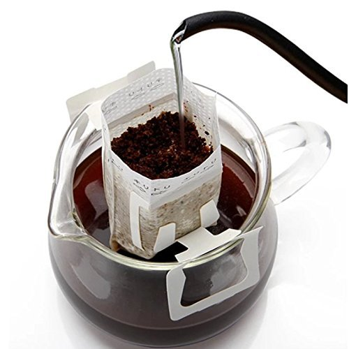 Amazon Com Pack Of 50 Disposable Drip Coffee Filter Bag Premium Single Serve Food Grade Paper Hanging Ear Coff Coffee Filter Paper Coffee Filters Serving Food