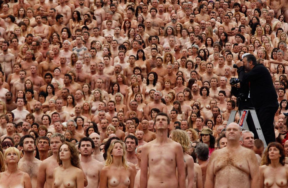 nude Naked spencer tunick