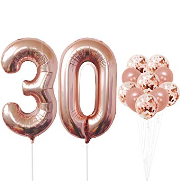 Pin By Deanna Aguilar On Parties And Events Rose Gold Party Supplies 30th Birthday Decorations Rose Gold Party Decor