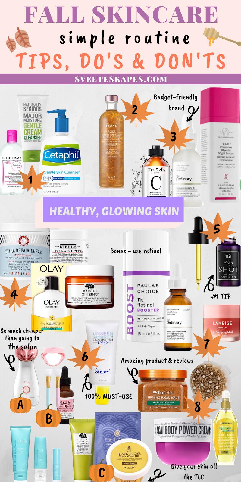 Fall Skincare Routine Tips Do S Don Ts Autumn Skincare Fall Skincare Routine Skin Cleanser Products