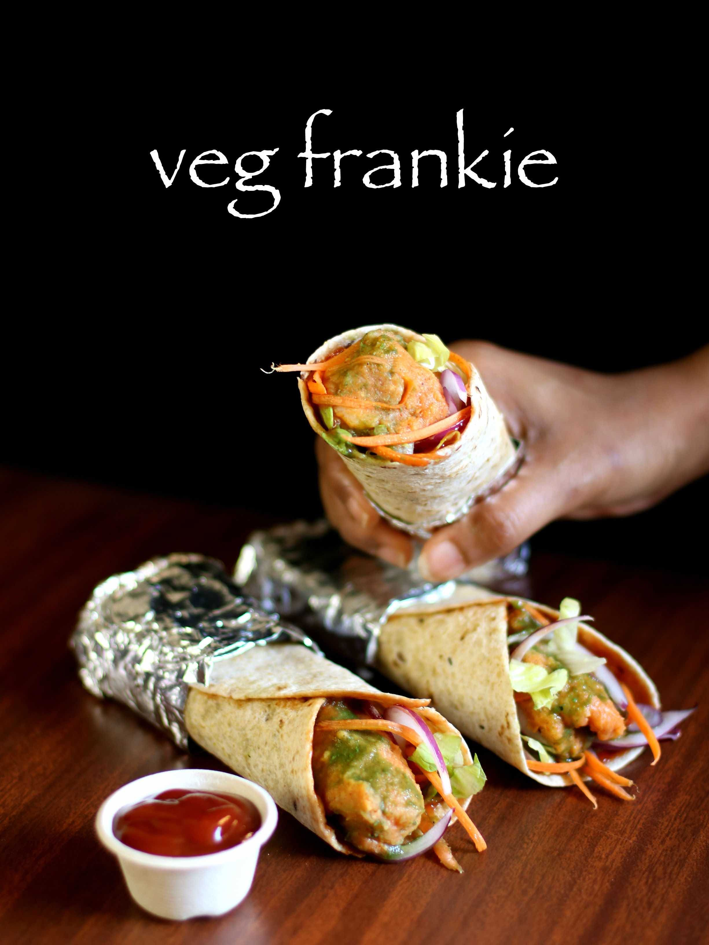 Veg frankie recipe veg kathi roll recipe veg frankie roll recipe