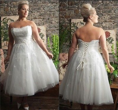 Short Wedding Dress Plus Size Corset