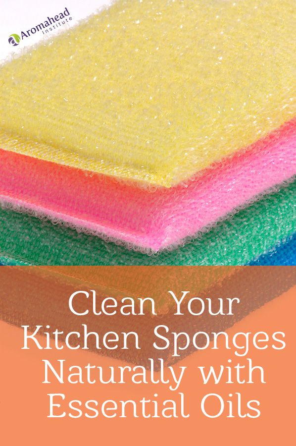 Clean Your Kitchen Sponges Naturally With Essential Oils Kitchen Sponge Essential Oils Cleaning Essential Oils