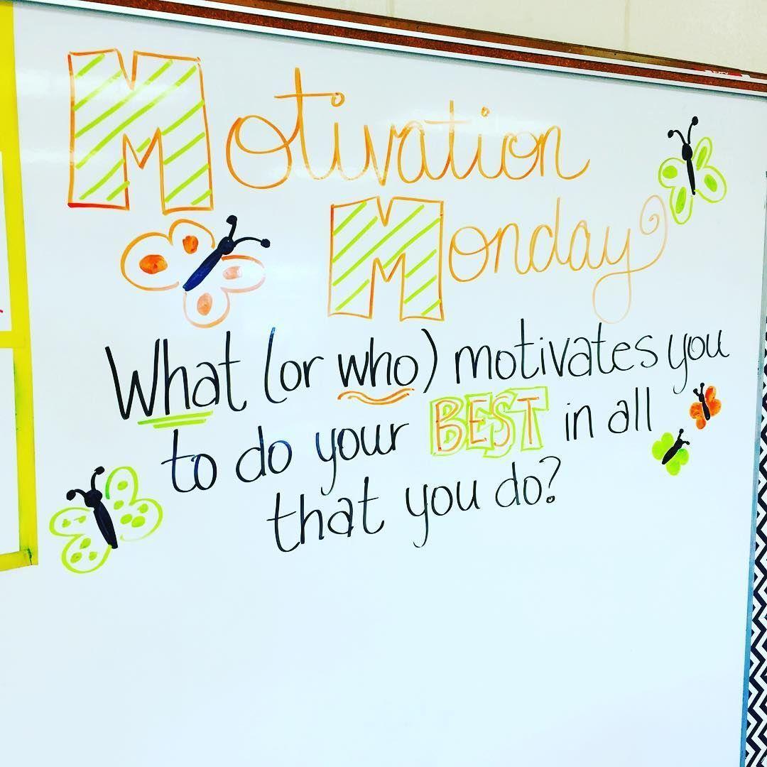 Entertainment Monday Motivation Whiteboard