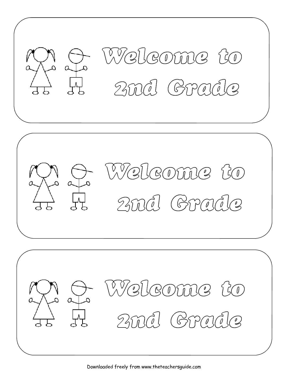 Back To School 2nd Grade Worksheet Free Backtoschool
