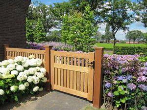 Houten Hekwerk Tuin : Tuinhek dicht hout met houten hekwerk tuinhekken farm poorten