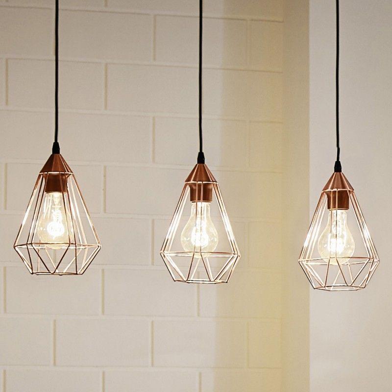 Simple Design H nge Leuchte Retro Shabby Vintage Kupfer Pendel Lampe Gitter H ngelampe H ngeleuchte