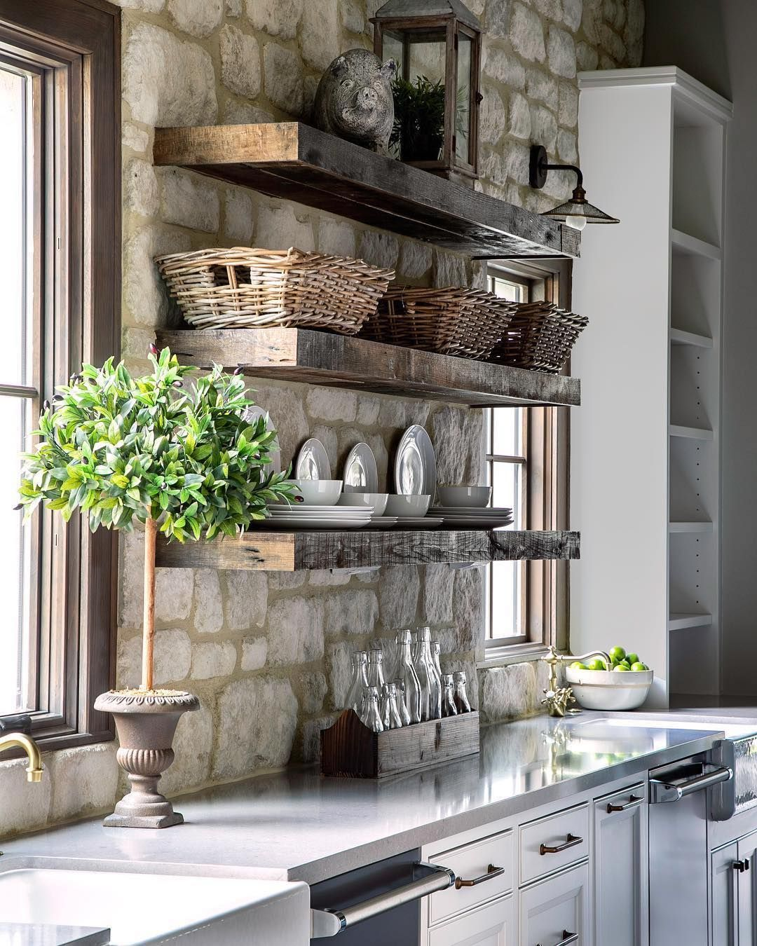 """Whitney & Co. on Instagram: """"Perfect kitchen mix with stone and"""