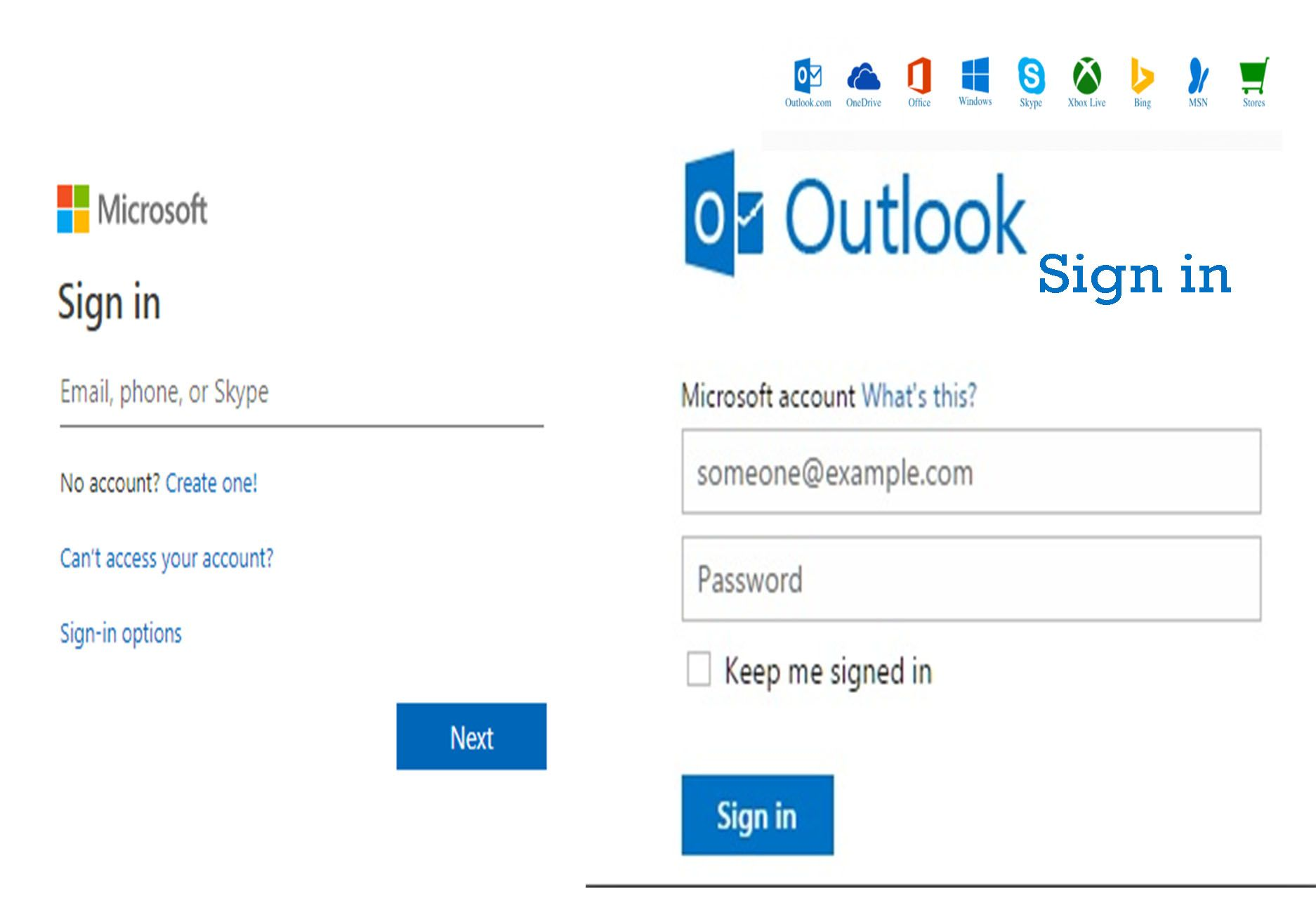 Sign into Microsoft Outlook