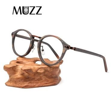 ba9720934794 MUZZ 2018 High Quality Men Myopia Wood Eyewear myopia glasses frame retro  frame female frame male with glasses metallic art tide