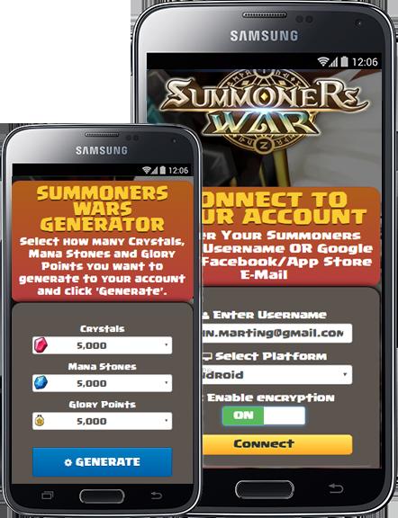 summoners war mana online