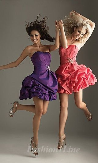 68a05ea5275 I absolutely love these matching prom dresses... Me and my best friend will  have to get them.