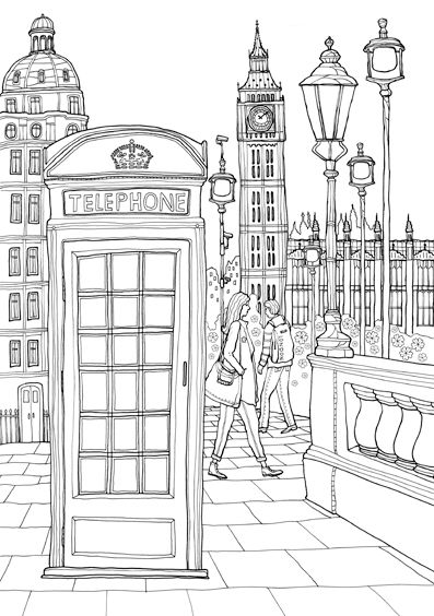 Coloring Europe Charming London I Waves Of Color School