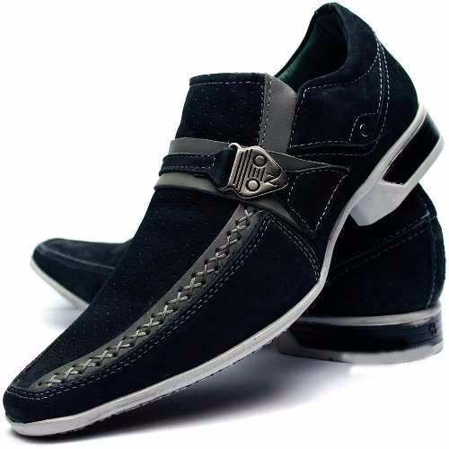 516722d1f9 sapato masculino social bico longo luxo stilo italiano couro ...