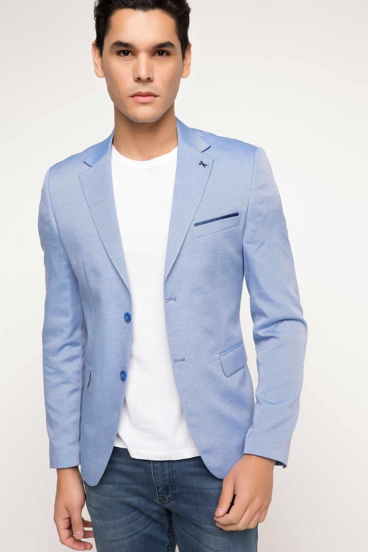 Defacto Marka Oxford Modern Fit Ceket Rahat Kesimi Ve Trend Detaylari Ile Kolayca Sik Ve Fit Gorunebileceginiz Defacto Erke Fashion Suit Jacket Men S Blazer