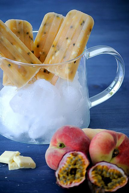 Popsicles Pfirsich-Maracuja
