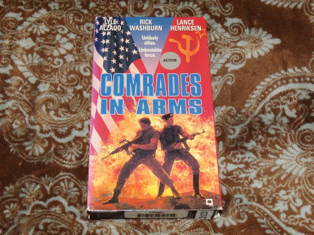 Comrades in Arms (VHS, 1992) Rare OOP HTF 1st Republic/Lyle Alzado! *NOT ON DVD*