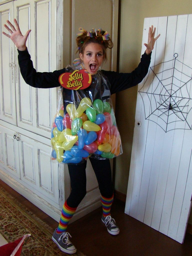 check some great ideas for homemade costumes like this one a bag of jellybeans to be used for savvy mom