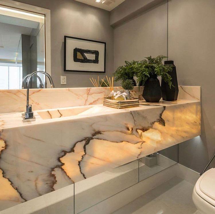 Marbre et lumi re pour cette salle de bain decoration luxurydesign design salle bain design - Lumiere pour salle de bain ...