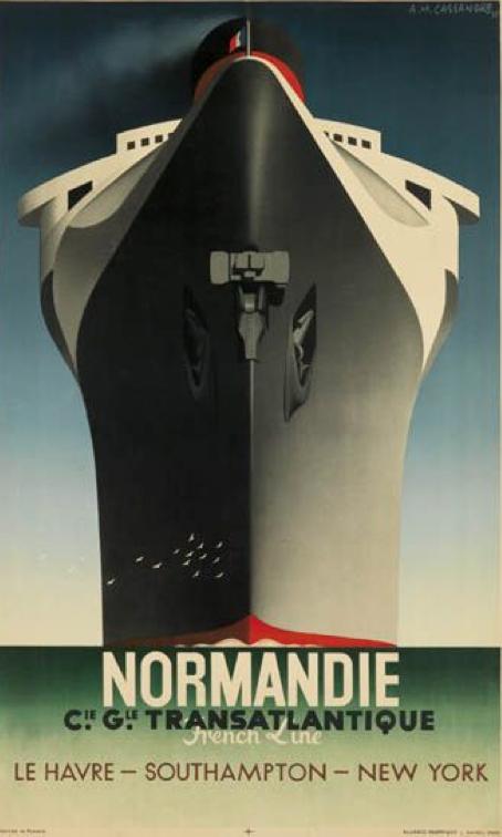 By Adolphe Mouron Cassandre (1901-1968), 1935, Normandie,  Alliance Graphique L. Danel, Paris.