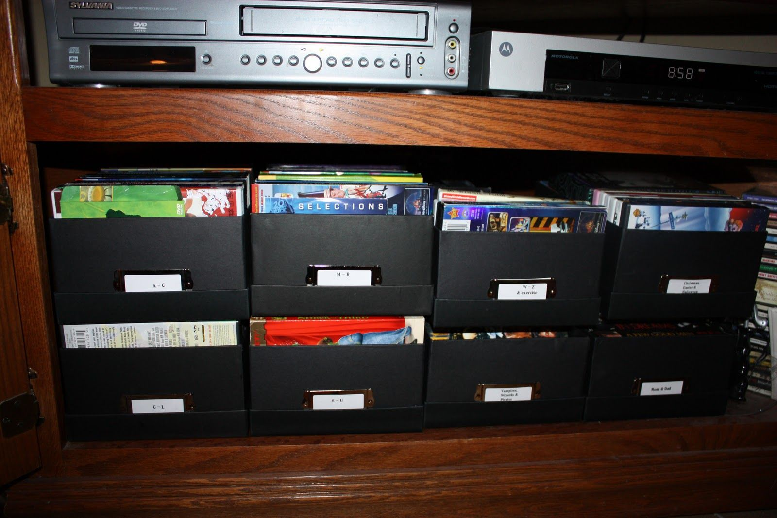 Dvd Boxes Possible Idea For Us Organize Dvds Diy Storage Rack Organization
