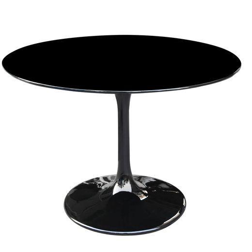 "Fine Mode Imports FMI1149-36 -BLACK Flower Table 36"""" in Black"