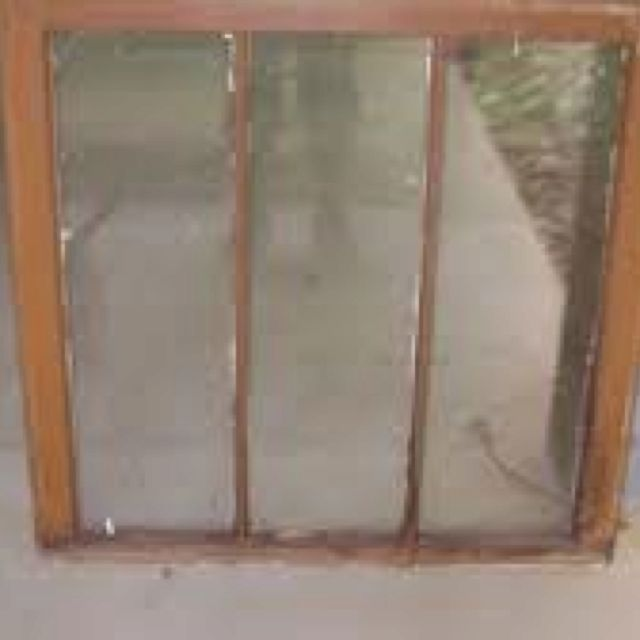 Old 3 pane window