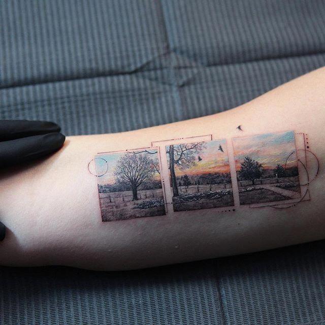geometric hand tattoo #Geometrictattoos