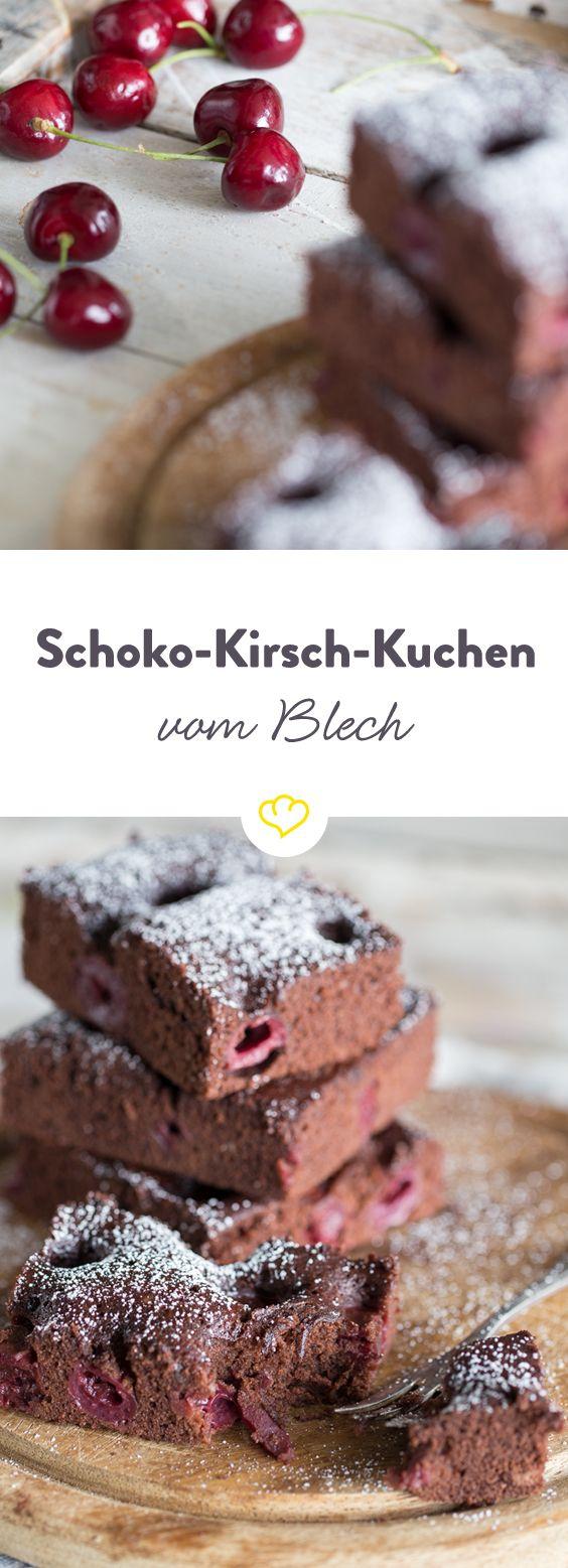Schneller Schoko Kirsch Kuchen Vom Blech Rezept Rezepte