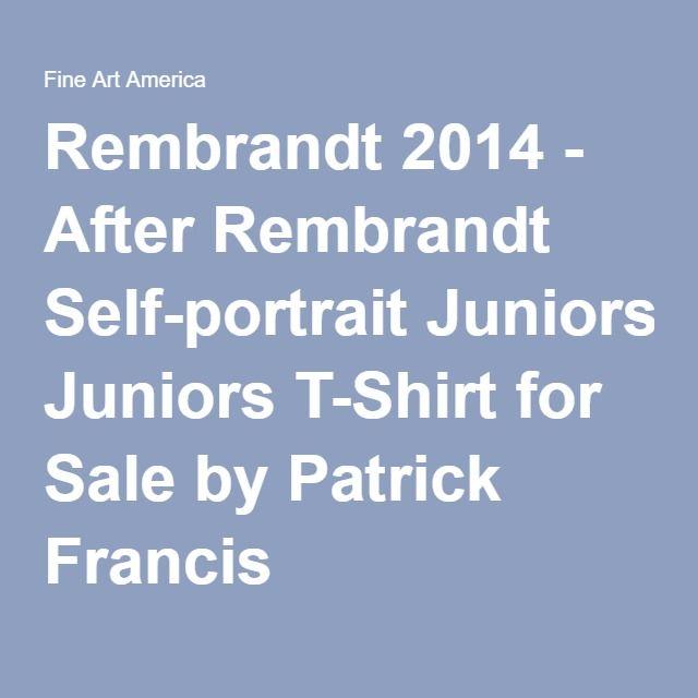 Patrick Francis - Rembrandt - After Rembrandt Self-portrait Junior Designer T-Shirt by Patrick Francis