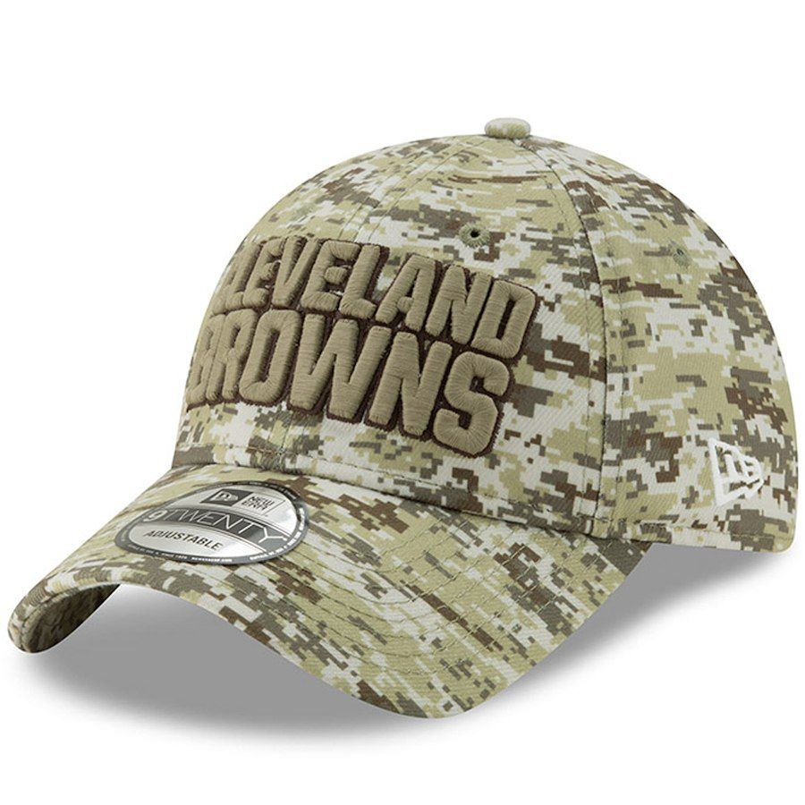 eef07171da5 Men s Cleveland Browns New Era Camo Digi 9TWENTY Adjustable Hat ...