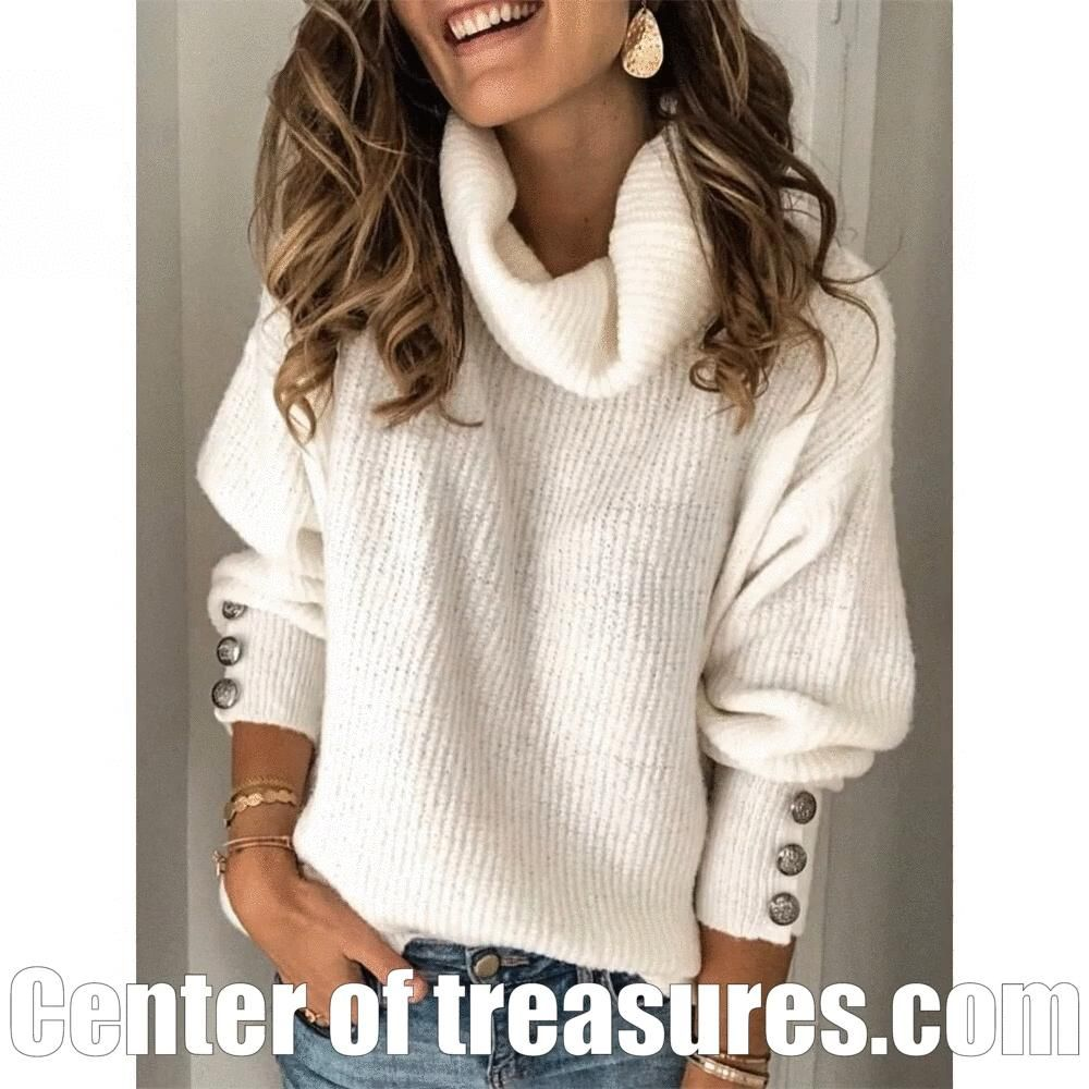 Photo of Plus Size Long Sleeve Women's Casual Sweater