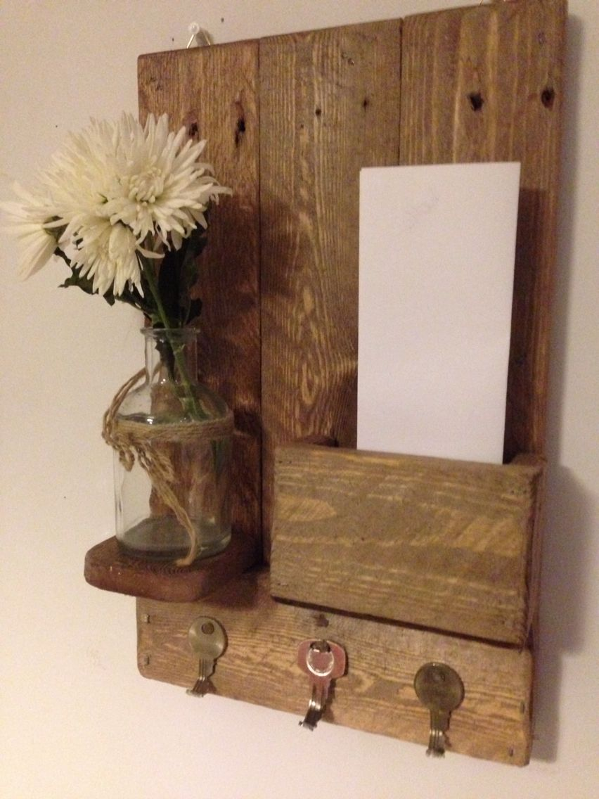 Small letter rack with shelf and key holders £25
