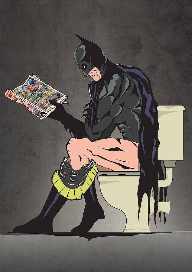 a510c25340cd4 Batman On The Toilet Print in 2019 | comic | Toilet art, Batman ...