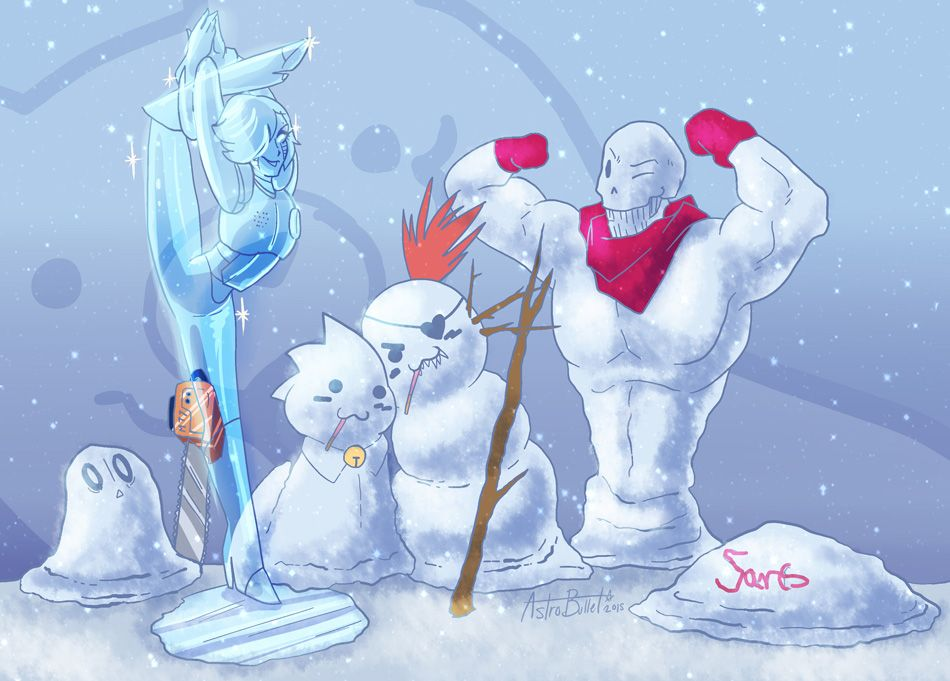 Undertale60min Snow by Astrobullet on DeviantArt