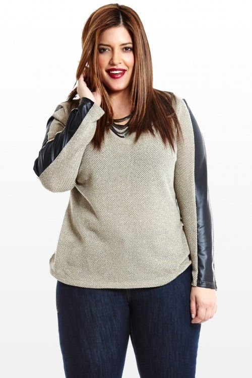 Trimmed To Perfection Faux-Leather Top $25