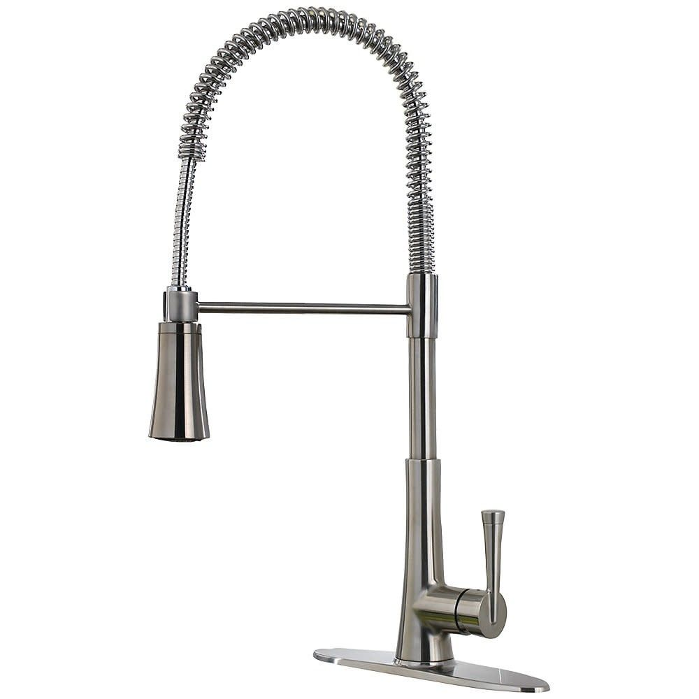 Pfister Lg529 Mc Zuri Pullout Spray High Arc Kitchen Faucet