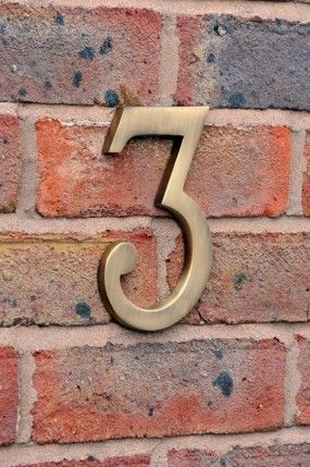 Large antique brass house numbers large house numbers house number signs catalogue black country metalworks ltd