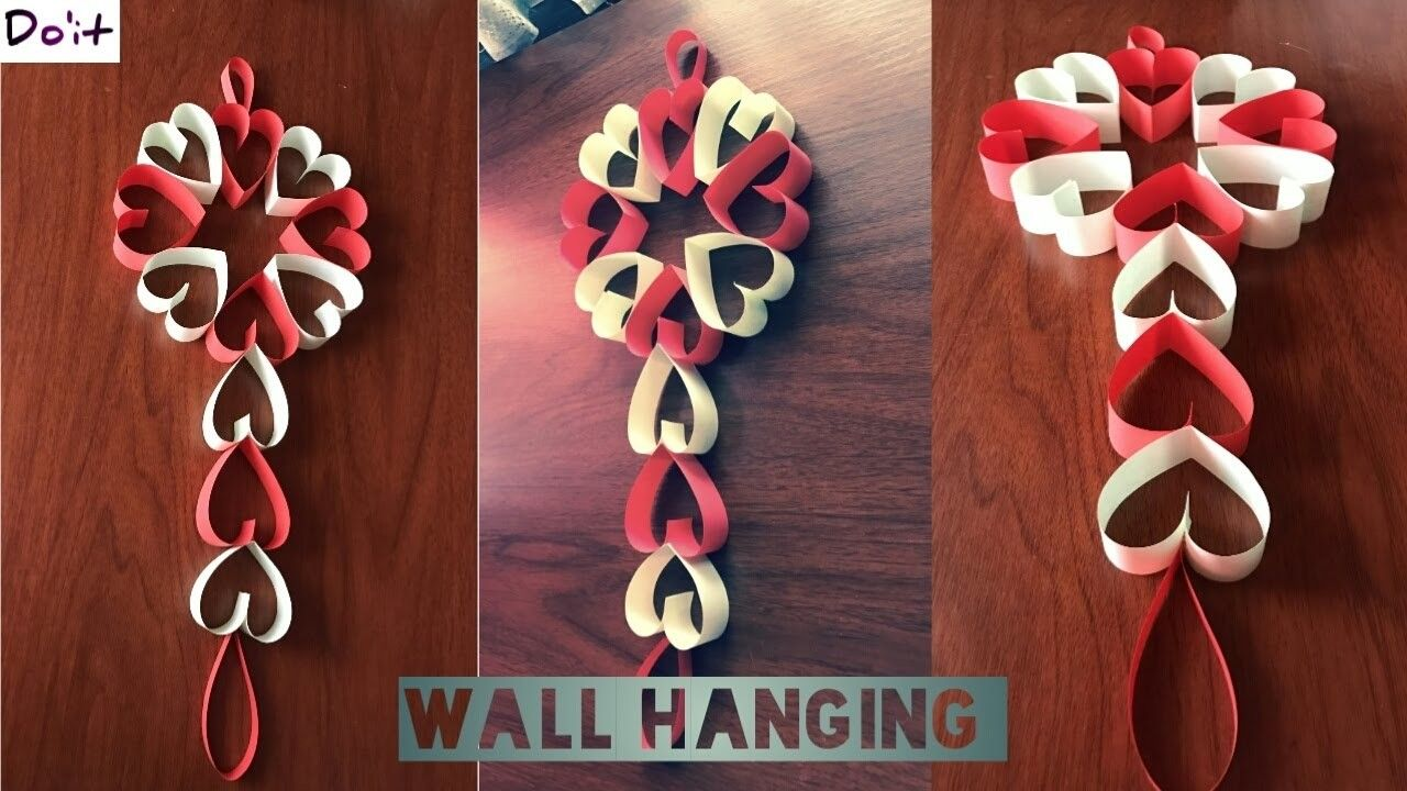 DIY WALL DECORATION IDEAS. . . . . ( WITH COLOUR PAPER). . .