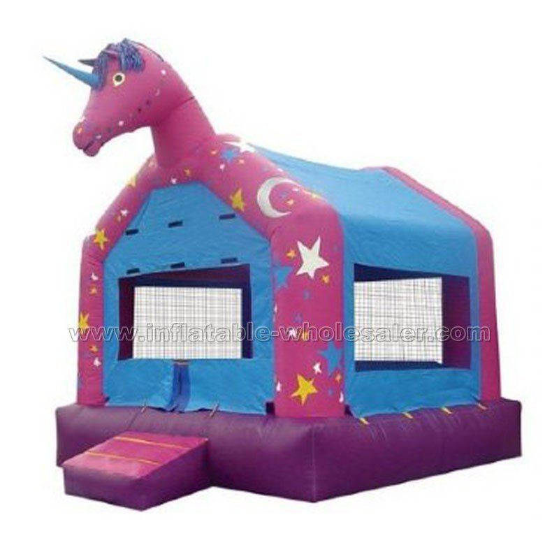 dreamy unicorn giant inflatable bouncer
